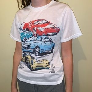 White T shirt with cars